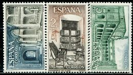 BG2276 Spain 1965 Abbey Architecture And Interior 3V Engraved Edition MNH - 1873-74 Regentschaft