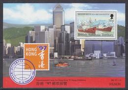 British Antarctic Territory (BAT)1997 Hong Kong '97 M/s ** Mnh (39851) - Brits Antarctisch Territorium  (BAT)