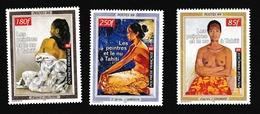 Polynésie1999XxPeinture - Nu - TahitiY&T604 + 606 + 607 - Ungebraucht