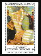 Saint-Vincent & Grenadines1993XxNus Féminins - Peinture - Chasseriau - EstherY&TBF198 - St.Vincent & Grenadines