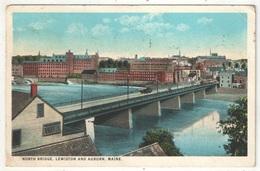 North Bridge, Lewiston And Auburn - 1925 - Lewiston