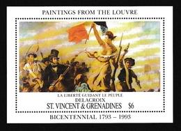 Saint-Vincent & Grenadines1993XxNus Féminins - Peinture - Delacroix - LibertéY&TBF199 - St.Vincent E Grenadine