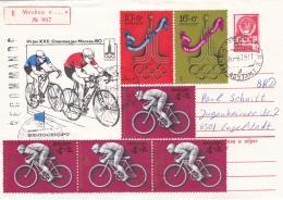 Soviet Registered  Postal Stationary 1980 Olympic Games Moscau - Used 1979 (G93-20) - Sommer 1980: Moskau
