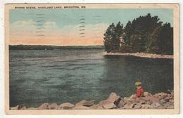 Shore Scene, Highland Lake, Bridgton, ME - 1925 - Etats-Unis