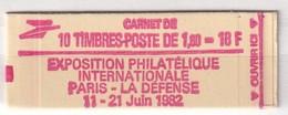 FRANCE  CARNET YT N° 2187 - C2    1.60F ROUGE - Markenheftchen