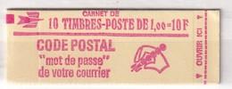 FRANCE  CARNET YT N°1892- C2  1F ROUGE - Usage Courant