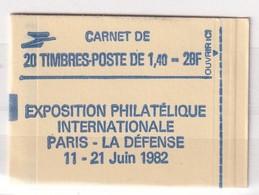 FRANCE  CARNET YT N° 2186- C1 1.40 F VERT - Carnets