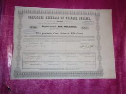 Compagnie Générale De Travaux Publics (isoard) 1838 - Shareholdings