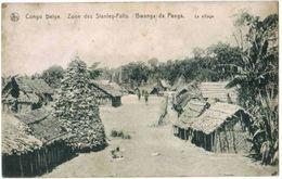 CPA CONGO BELGE - Zone Des Stanley Falls - Bwanga Da Panga - Le Village - Ed. Nels Série 11 N°164 - Congo Belge - Autres