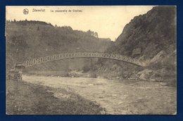 Stavelot. La Passerelle De Châlles Sur L'Amblève. 1919 - Stavelot