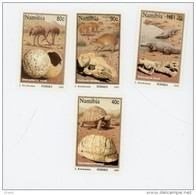 Namibie 1995-Fossiles D'animaux-Tortue,crocodile,autruche-YT 745/48***MNH- - Namibie (1990- ...)