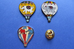 3 Pin's,montgolfière,animaux,ELEPHANT,ELEFANT,Heissluftballon,Ballon,Baloon,cirque - Airships