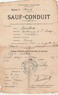 Sauf Conduit 1917 / 4 Voyages à Pied, En Voiture Et Chemin De Fer / Brouillard D' Amont Par Faucogney 70 - 1914-18