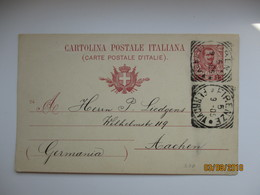 ITALY POSTAL STATIONERY POSTCARD 1905 FIRENZE TO AACHEN , 0 - 1900-44 Victor Emmanuel III.