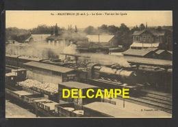 DF / CHEMINS DE FER / GARE DE MAINTENON ( EURE ET LOIR ) / VUE SUR LES QUAIS , TRAINS ET WAGONS - Stations With Trains