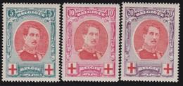 Belgie   .           OBP     .       132/134         .       *   .    Ongebruikt    .   /   .   Neuf  * - 1914-1915 Croix-Rouge