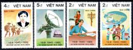 Vietnam 0608A/D Poste , Facteur , Bicyclette , Télégraphe - Posta
