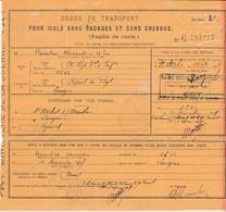 Feuille De Route 1915 / Ordre Transport Isolé Sans Bagage Et Sans Chevaux / St Moichel Sur Meurthe 88 à Langres - 1914-18