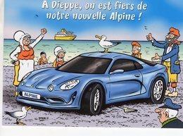 Alpine Renault  -  Dieppe  -  Illustration De Nicolas Sterin (signés)  -  CPM - Voitures De Tourisme