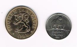 &-   FINLAND 2 X 50 PENNIA  1981/1990 - Finlande
