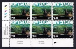 New Zealand 2001 Tourism $2.00 Control Block 1 Kiwi MNH - New Zealand