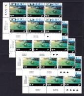 New Zealand 2001 Tourism $1.50 Control Blocks - Four Kiwi Reprints MNH - New Zealand