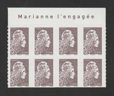 FRANCE / 2018 / Y&T N° AA 30?? ** : Marianne De Digan (adhésif De Feuille) 0.05 € Bistre X 8 (BdF Haut) - état D'origine - Frankrijk