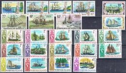 DO 7283 LOT NORFOLK ISLAND XX YVERT NRS 79/92 , 169/70 , 285/87 , 356/59 ZIE SCAN - Stamps