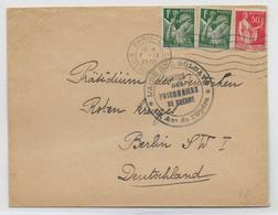 """1940 - ENVELOPPE Du SERVICE Des PRISONNIERS De GUERRE """"L'AIDE AUX SOLDATS"""" à PARIS => CROIX-ROUGE De BERLIN (ALLEMAGNE) - Marcophilie (Lettres)"""