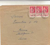 Lautenbach A Bollwiller. To Berne. Suise. Cover 1933 - Francia