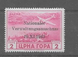 Sello De Montenegro Nº Michel 17 ** - Occupation 1938-45
