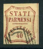 """PARME ( POSTE ) Y&T N°  15  """" FAUX ? """"   TIMBRE  OBLITERE . - Parma"""
