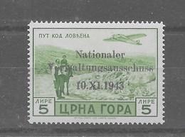 Sello De Montenegro Nº Michel 18 ** - Occupation 1938-45