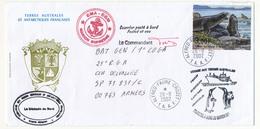 TAAF - Enveloppe Affr. 046E - Alfred Faure Crozet - 28/8/002 - Marion Dufresne / Touristes à Bord... - Cartas