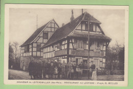 LEITERSWILLER : Restaurant Au Léopard, Propritétaire Muller, Souvenir. TBE. 2 Scans. Edition Bastian - Frankreich