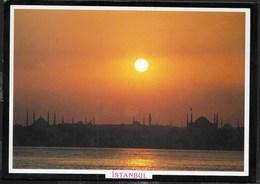 TURCHIA - TRAMONTO SU ISTAMBUL  - FORMATO GRANDE 17X12 - VIAGGIATA 1991 - Turchia