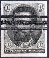 SPAGNA, SPAIN, ESPANA, ESPAGNE, COMMEMORATIVO, RE AMADEO, SAGGIO DI PROVA, 1872, 3 BAR  Edi 129pn - Storia Postale