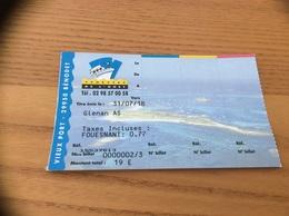 Ticket De Transport ** (bateau) «VEDETTE DE L'ODET - Îles Glenan» - Europa