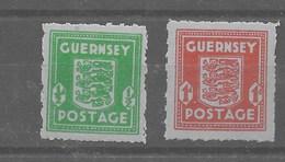 Serie De Guernesey Nº Michel 4/5 ** - Ocupación 1938 – 45
