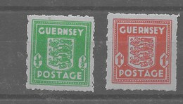 Serie De Guernesey Nº Michel 4/5 ** - Occupation 1938-45