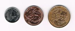 &-   BRAZILIE  1 -5 - 25  CENTAVOS  1975 - 2006 - 2001 - Brésil