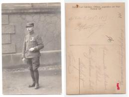 (Guerre 1914-18) Carte Photo 101, 104 Régiment, Capitaine Avec Légion D'Honneur, Camp Prisonnier De De Dobeln Le 30/10/1 - Guerre 1914-18
