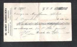 OUD ONTVANGSTBEWIJS- DE GENDT GEBROEDERS - BAESRODE -  DD. 14/9/33  (OD 364) - 1900 – 1949