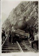 Deraillement Du Train De Réservistes 1930 Besançon Photo De L'agence Meurisse - Trains
