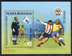 ROMANIA 1981 Football World Cup Block MNH / ** .  Michel Block 185 - Blocks & Kleinbögen