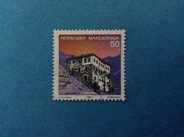 1998 MACEDONIA FRANCOBOLLO USATO STAMP USED ARCHITETTURA 50 - Macedonia