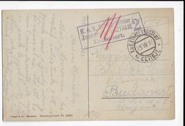 1917 - MONTENEGRO - CARTE Avec CENSURE LOCALE AUTRICHIENNE De CETINJE => BUDAPEST (HONGRIE) - Montenegro