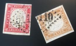 """Sardegna 1855-63 Annulli Francesi R2 = 9000€ """"5110 BOU KANIFIS"""" ALGERIE (Italia Posta Maritima Algeria GC Sardinia - Sardaigne"""