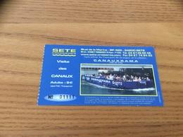 Ticket De Transport (bateau) «SETE CROISIERES - Visite Des Canaux» - Europa