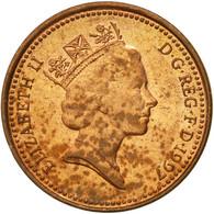 Monnaie, Grande-Bretagne, Elizabeth II, Penny, 1997, TB, Copper Plated Steel - 1971-… : Monnaies Décimales